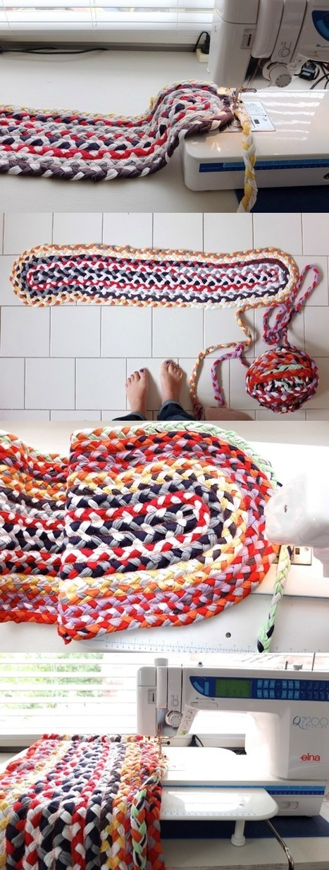 My Poppet – Upcycle Style: Braided T-shirt Rug | Make it new, make it work | Scoop.it