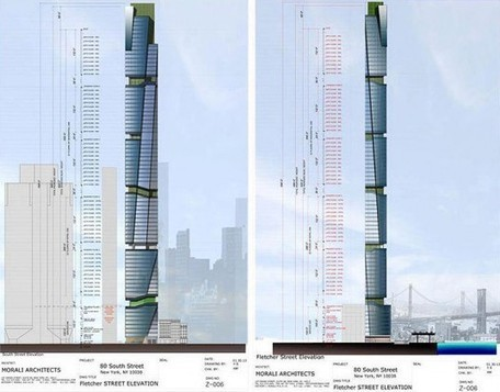 Proposed 80 South Street Seaport Tower Has Edible Roof Farms and Vertical Gardens | Inhabitat New York City | Vertical Farm - Food Factory | Scoop.it