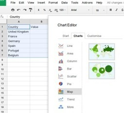 Create GeoMap Charts in Google Sheets | iGeneration - 21st Century Education | Scoop.it