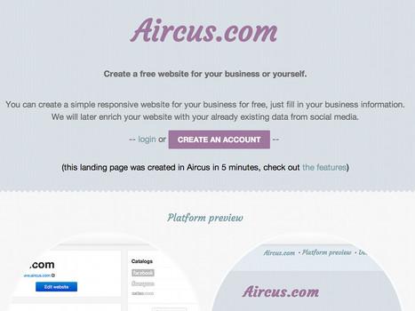 Aircus, créer un site Web gratuit en 5 minutes | Time to Learn | Scoop.it