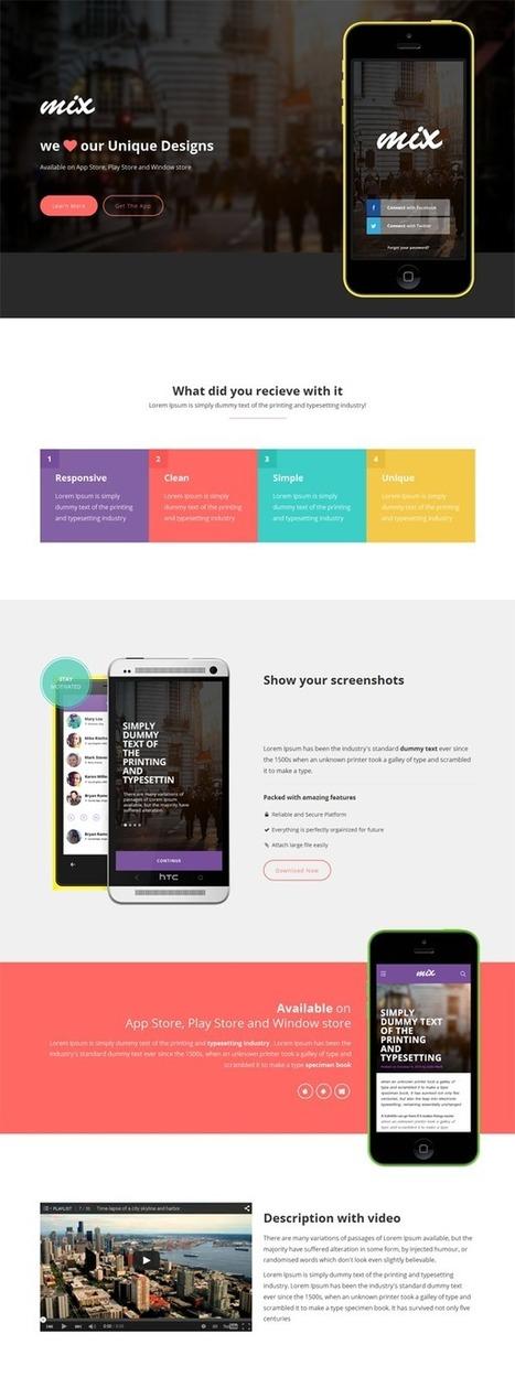 20+ Responsive HTML Landing Page Templates | Webtechelp | Scoop.it