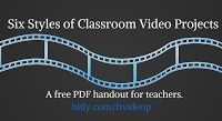 Free Technology for Teachers: Six Styles of Classroom Video Projects - A Handout | Recursos Online | Scoop.it