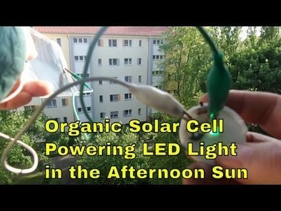 Organic Solar Cell OPV powering blinking LED light in the evening sun | Free Energy HQ | Solar Energy projects & Energy Efficiency | Scoop.it