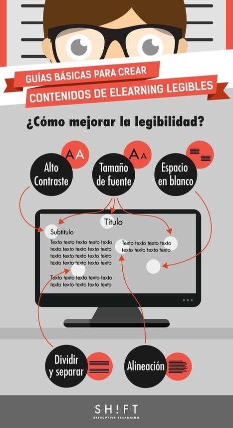Guías básicas para crear contenidos eLearning legibles | Educacion, ecologia y TIC | Scoop.it