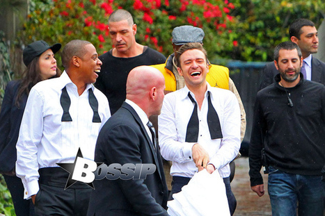"Justin Timberlake And Jay-Z On The Set Of ""Suit And Tie"" Video In L.A. 