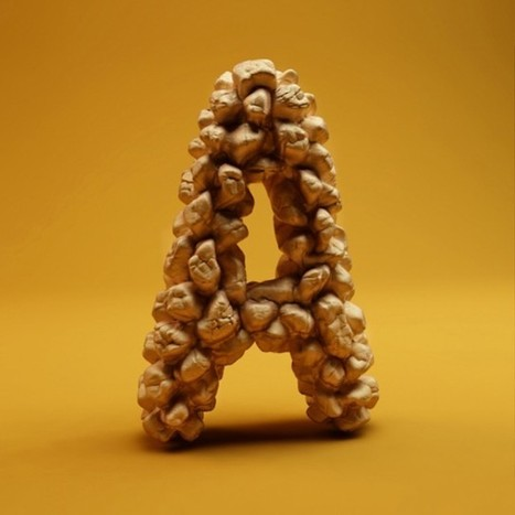 [#Typography] The Sculpted 3D Alphabet | mviross | Scoop.it