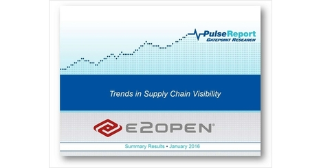 Survey Results: Trends in Supply Chain Visibility | Supply chain News and trends | Scoop.it