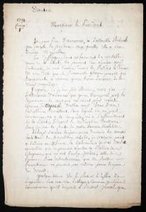 Lettre de Danton au président de l'Assemblée Electorale, 1791 | GenealoNet | Scoop.it