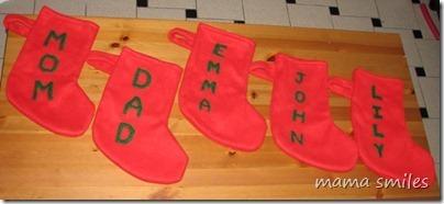 Simple handmade Christmas Stockings - mama smiles | Simple Christmas | Scoop.it