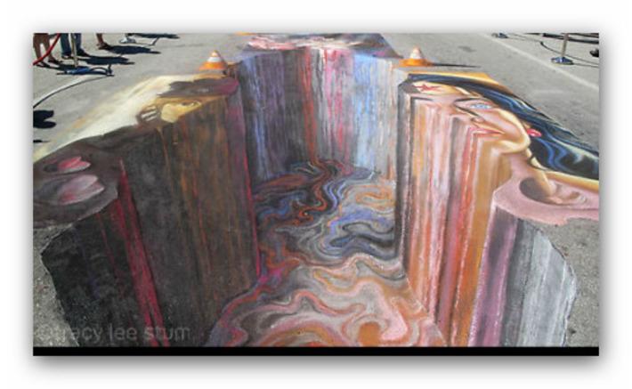tracy lee stum | FINE ART : 3D Street Paintings and Interactive 3D Chalk Art | Machinimania | Scoop.it