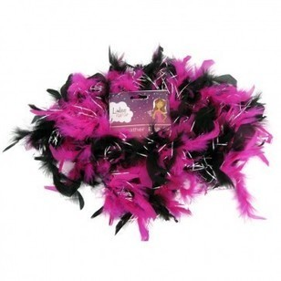 Beautiful Pink & Black Feather Boa for Bachelorette Party | danilirwi links | Scoop.it