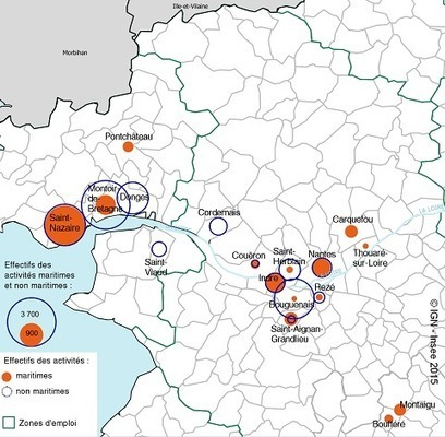 Insee > 24400 emplois sur le complexe industrialo-portuaire de Nantes Saint-Nazaire | Observer les Pays de la Loire | Scoop.it