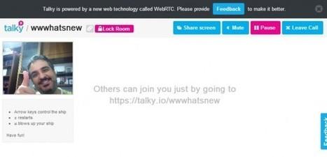 Talky, una forma de hacer videoconferencias vía web, y compartir pantalla, sin instalar nada | herramientas colaborativas | Scoop.it