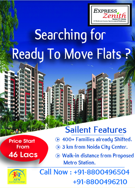 Book Your Dream Home in Noida with Ready To Move Flats | Residential Projects in Noida | Scoop.it