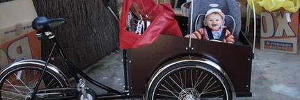 Vélo-cargo - un vélo : un adulte, deux enfants   Mobilité   Scoop.it