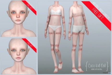 Kid Doll Unisex Bodys & Heads Gift by COCO Designs | Teleport Hub - Second Life Freebies | Second Life Freebies | Scoop.it
