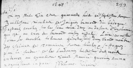 Suffoqués par la foudre (Tourves, 7août1648) | Rhit Genealogie | Scoop.it
