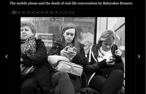 The mobile phone and the death of real-life conversation by Babycakes Romero - Telegraph | Photography in Esl-Efl | Scoop.it