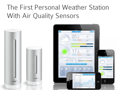 The Netatmo Weather Station, the first weather station designed for iPhone and iPad, wifi weather station, air quality monitoring and wireless weather station. | Wireless Weather Stations | Scoop.it