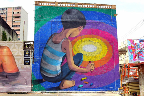 Walking on a Dream: #Murals of People Staring into #Portals of #Colour by Seth Globepainter #art | Luby Art | Scoop.it