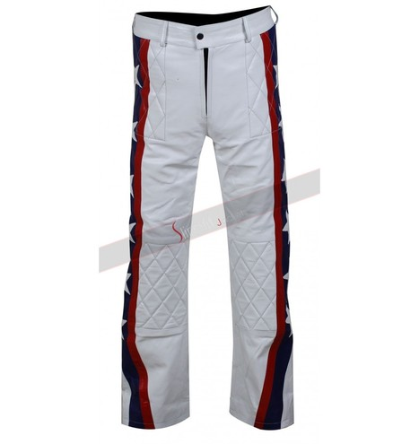 Evel Knievel White Leather Pants | Motorcycle Leather Jackets For Men and Women | Scoop.it