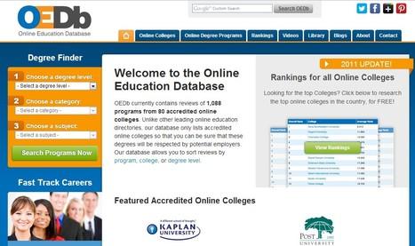 Online Education Database - Online Colleges and Universities | ciberpocket | Scoop.it