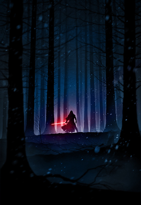 Haunting 'Noir' Illustrations Of Landscapes, Characters From 'The Force Awakens' - DesignTAXI.com | Planet Earth | Scoop.it