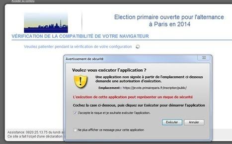 Primaire UMP Paris : un vote par Internet très opaque | Libertés Numériques | Scoop.it