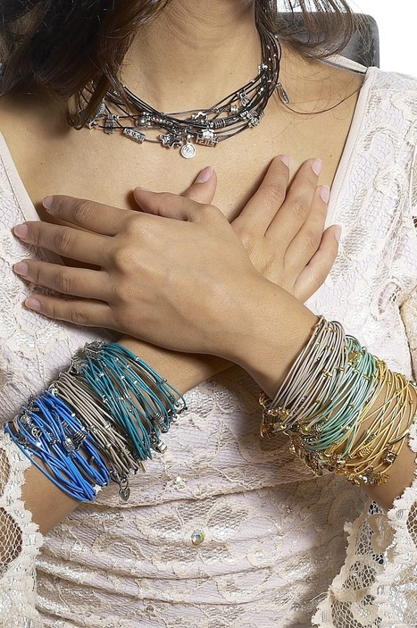 Calinana Double Wrap Multi Cord Leather Bracelet | Arm Candy - Hottest Jewelry Trends 2013 | Scoop.it