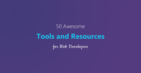 50 Awesome Tools and Resources for Web Developers | Tutorialzine | Web Design | Scoop.it