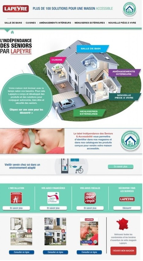 Lapeyre lance un nouveau site internet pour « vivre l'accessibilité en ... - SilverEco   dependance   Scoop.it