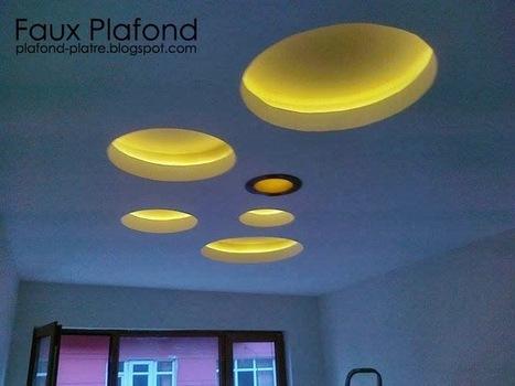 39 ceiling design 39 in faux plafond en forme d 39 un papillon for Le faux plafond en platre