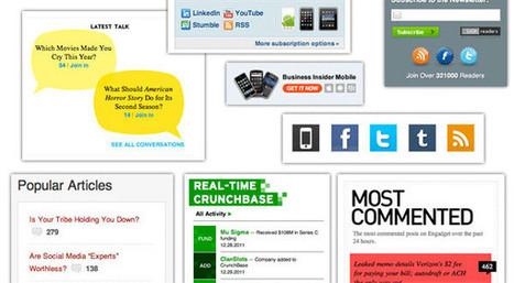 Widgets à utiliser dans la sidebar et ceux à éviter absolument | Au fil du Web | Scoop.it