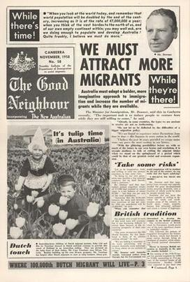 Newsletter - The Good Neighbour, Department of Immigration, No 58, Nov 1958 - Museum Victoria | Faction | Scoop.it