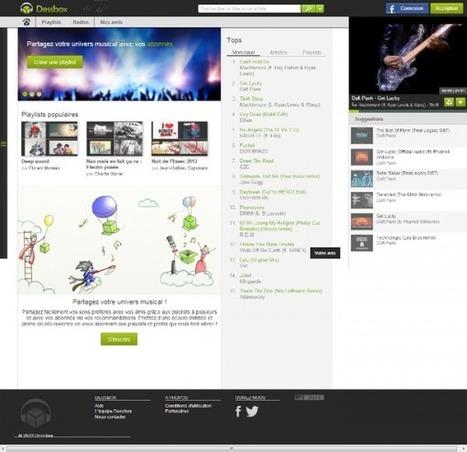 Dessbox : la musique en ligne gratuite, en illimité, sans pub et sociale ! | Actinnovation© | topic | Scoop.it