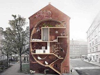 Vivere tra gli edifici, nuove abitazioni che recuperano spazi in città | Facciate, facades, vertical green wall, colorful facades, wall street art, facades led media light, projection  mapping | Scoop.it
