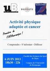 Conférence : les activités physiques adaptées (APA) et le cancer - Université de Bourgogne | Physical activity and Health | Scoop.it