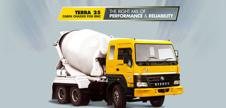 Eicher Terra 25 Cab Chassis for RMC | Trucks In India | Scoop.it