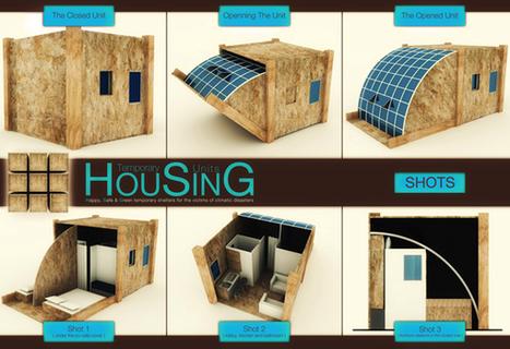 Abri d'urgence mobile by Michel Antoun Zateef » Yanko Design | Ageka les matériaux pour la construction bois. | Scoop.it