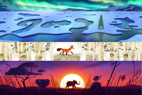 Google celebra el Día de la Tierra con bellos doodles de animales salvajes | RRPP online | Scoop.it