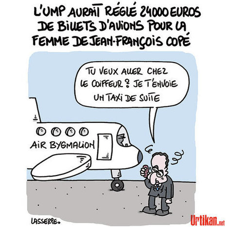 Copé «assume» les billets d'avion payés par l'UMP à sa femme | Baie d'humour | Scoop.it
