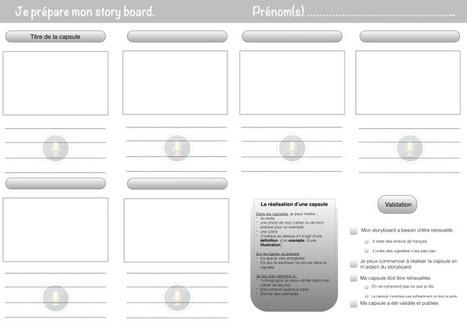 Un storyboard pour aider les élèves à réaliser leurs propres capsules   Ressources informatiques   Scoop.it