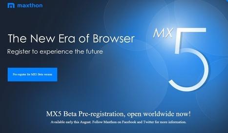 Mx 5 beta | Maxthon | Scoop.it