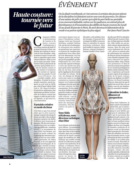 Preview Haute Couture dans Fashion Daily News | Julien Fournié | Scoop.it