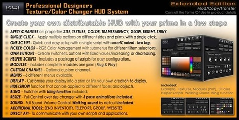 PROFESSIONAL DESIGNERS TEXTURE/COLOR CHANGER HUD !! | MIMI'S CHOICE IN SECOND LIFE | Scoop.it