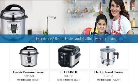 Baltra Electric Pressure Cooker, Electric Travel Cooker Deep Fryer Price in India | Home Appliances Traders | Scoop.it