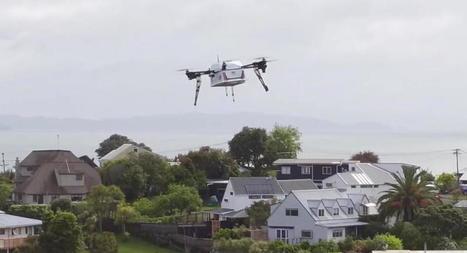 Des pizzas livrées par drone en Nouvelle-Zélande | Fédération Belge du Drone civil | Scoop.it