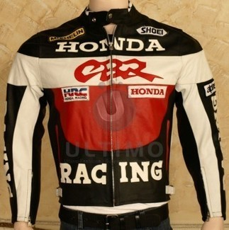 Honda CBR Motorcycle Real Leather Biker Jacket   You like leather jackets since nobody ignored it   Scoop.it