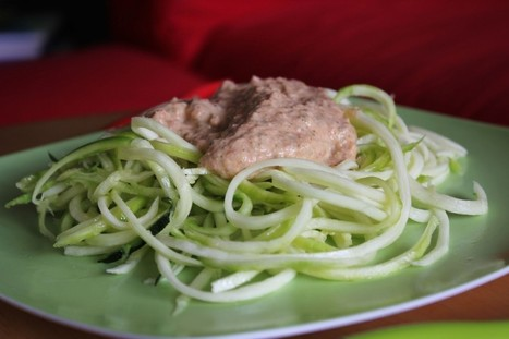 (Raw, vegan) Spaghettis de courgette et leur topping   Vegactu - végétarien, végétalien et végan   Scoop.it