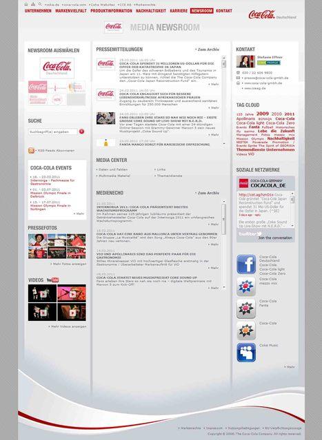 Coca-Cola Media Newsroom | Social Media Newsrooms | Scoop.it